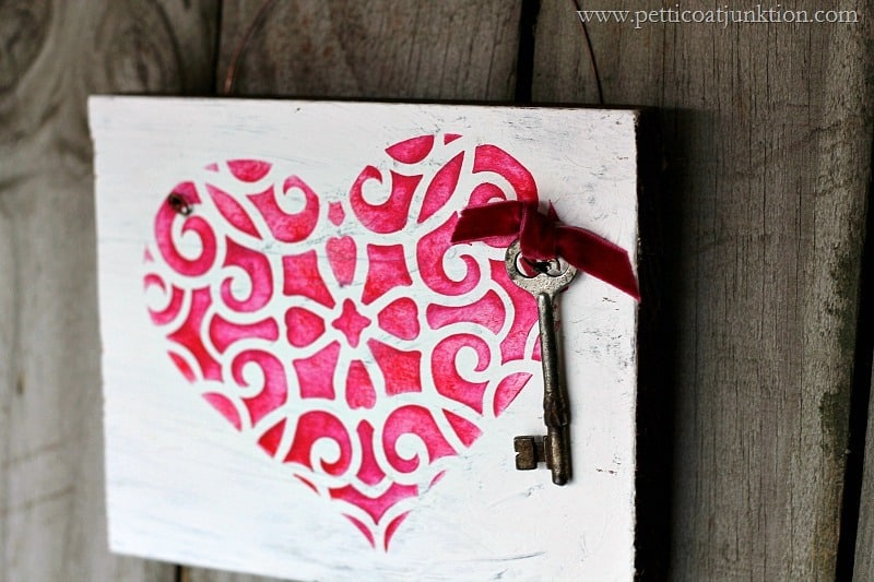 Valentine Stencil Project Perfection In Fuchsia And Red