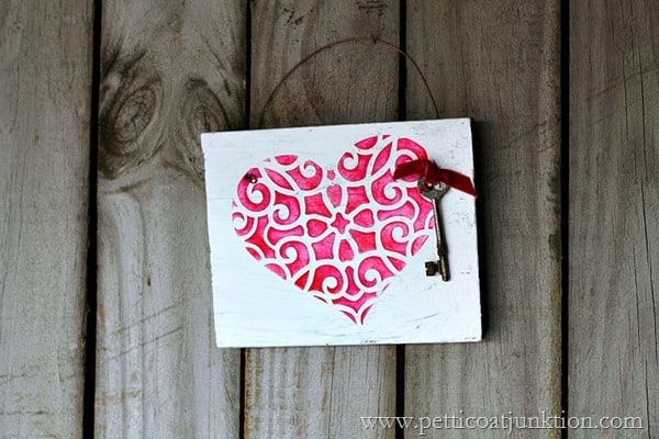 Royal Design Studios Heart Stencil Petticoat Junkiton project