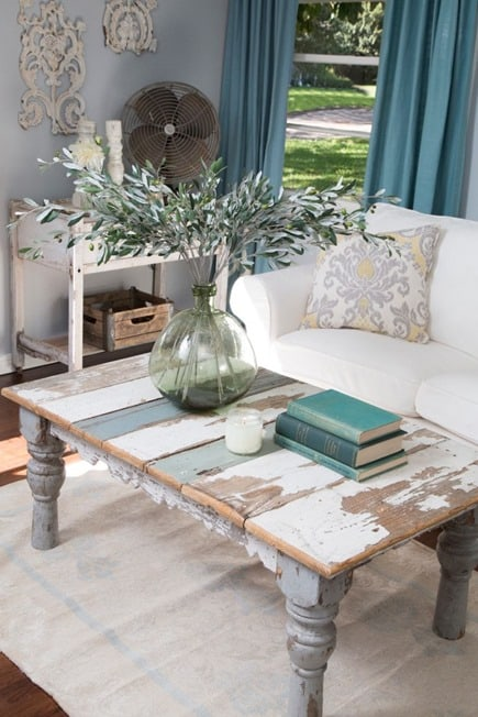 plank top table from HGTV