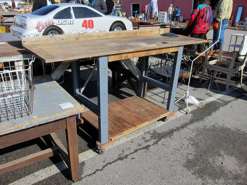 Reclaimed Wood Table Nashville Flea Market Petticoat Junktion Shopping Trip
