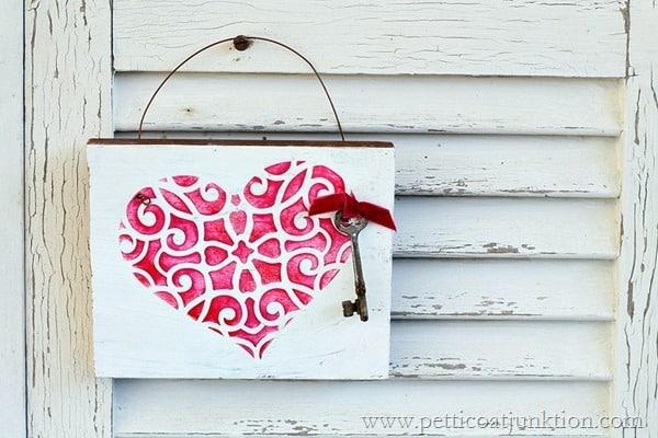 Valentine stencil