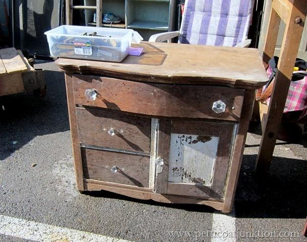 vintage shabby dresser Petticoat Junktion Nashville Flea Market Find