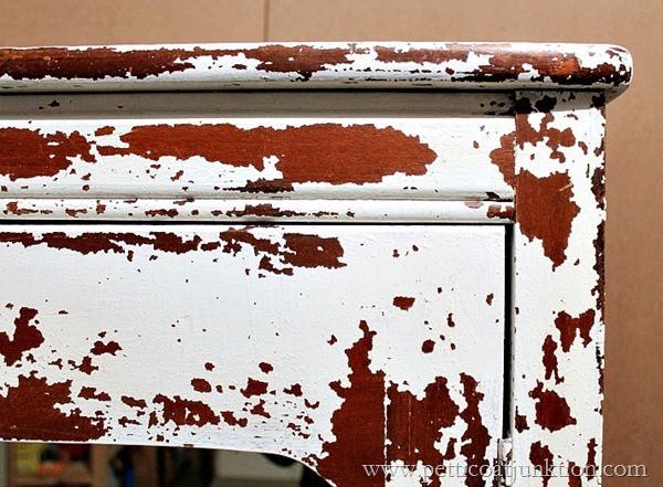 white chippy milk paint Petticoat Junktion