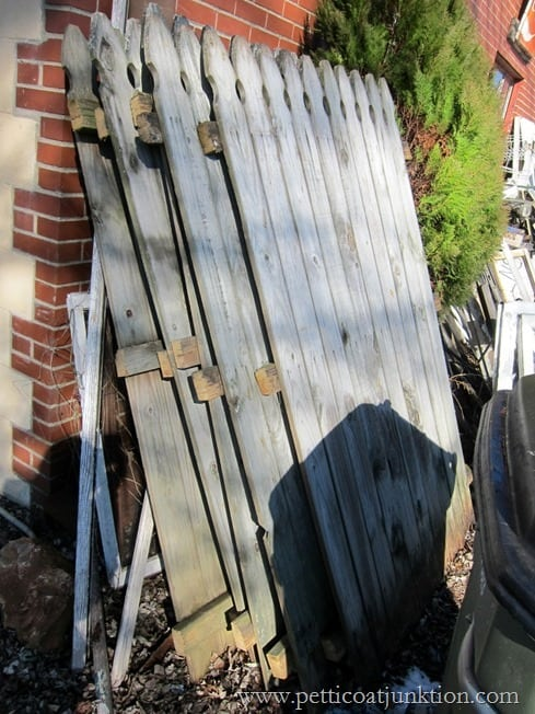 wood picket fence junk treasures Petticoat Junktion