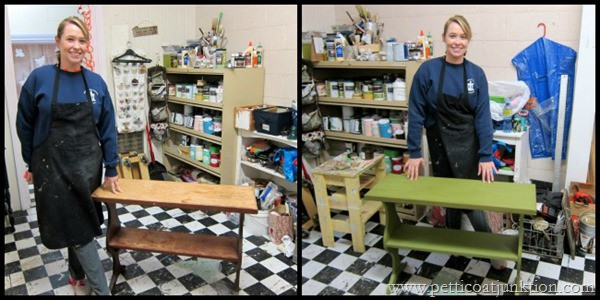 Alices Project Petticoat Junktion furniture painting worksho