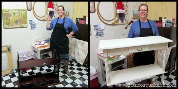 Danielles project Petticoat Junktion furniture painting workshop