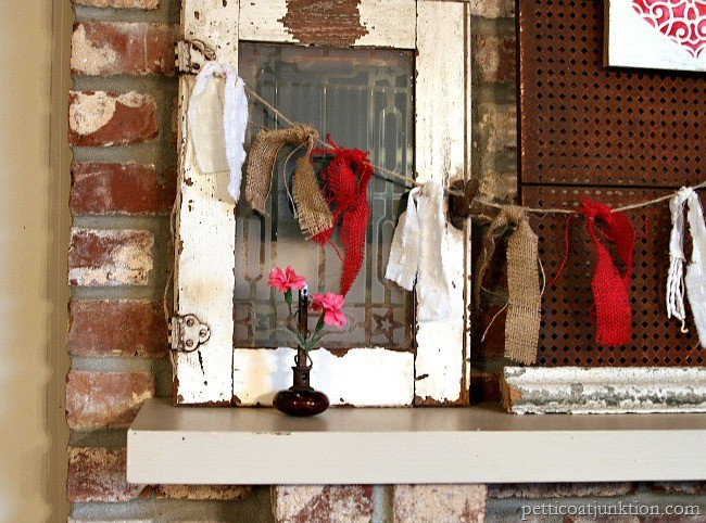 Decorate Your Mantel With Garlands and Hearts Petticoat Junktion