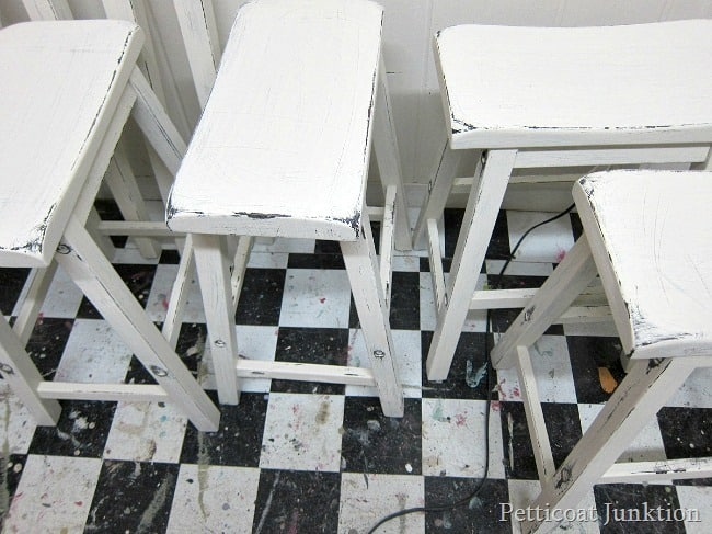 Distressing White Furniture furniture painting workshop Petticoat Junktion