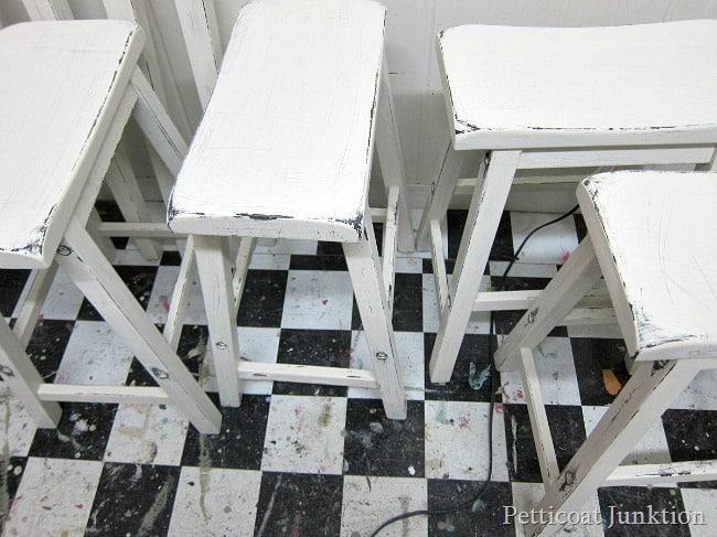 Distressing White Furniture furniture painting workshop Petticoat Junktion