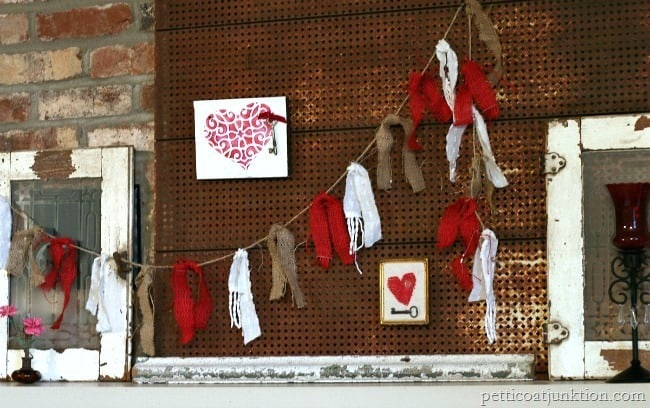 Fireplace Mantel Decor Petticoat Junktion red display