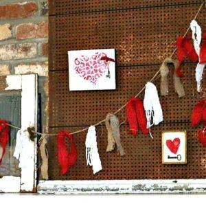 Valentine mantel display