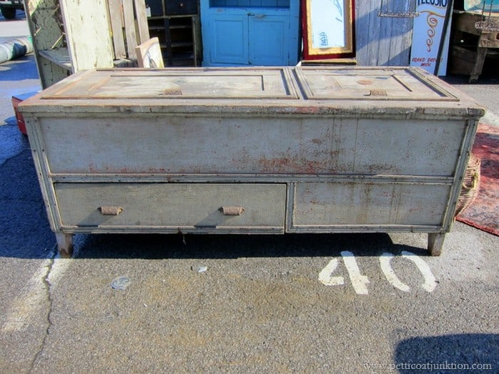 antique freezer spotted at the Nashville Flea Market by Petticoat Junktion