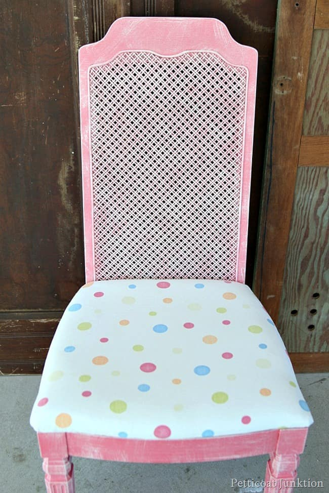 colorful coral painted chair Petticoat Junktion