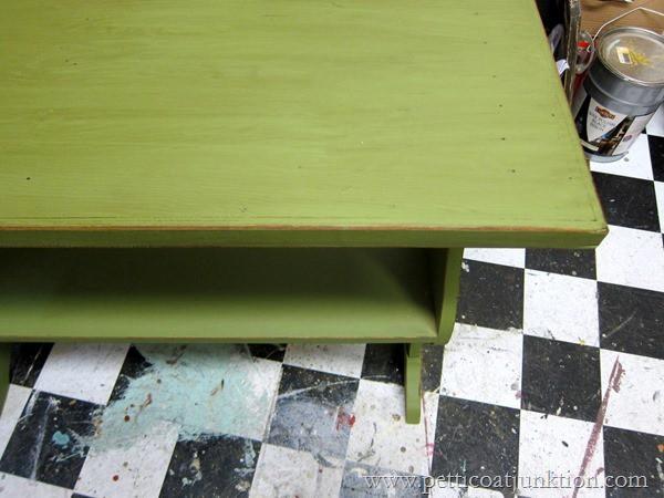 green paint with toner Petticoat Junktion paint workshop