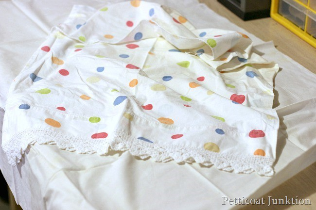pillowcase for chair seat cover Petticoat Junktion