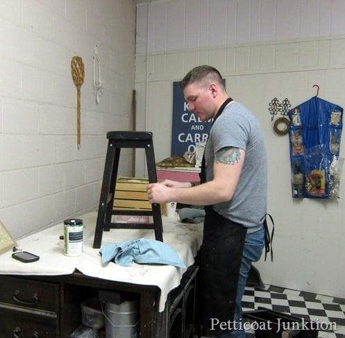prepping furniture furniture painting workshop Petticoat Junktion1