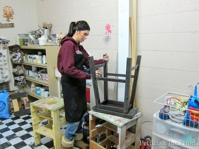 sanding furniture furniture painting workshop Petticoat Junktion
