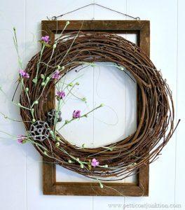 super simple super fast Spring grapevine wreath