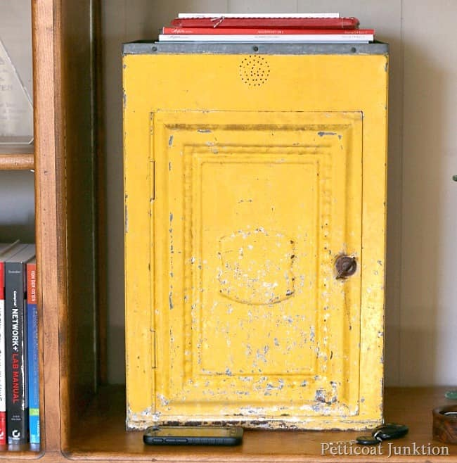 yellow metal cabinet Petticoat Junktion home decor
