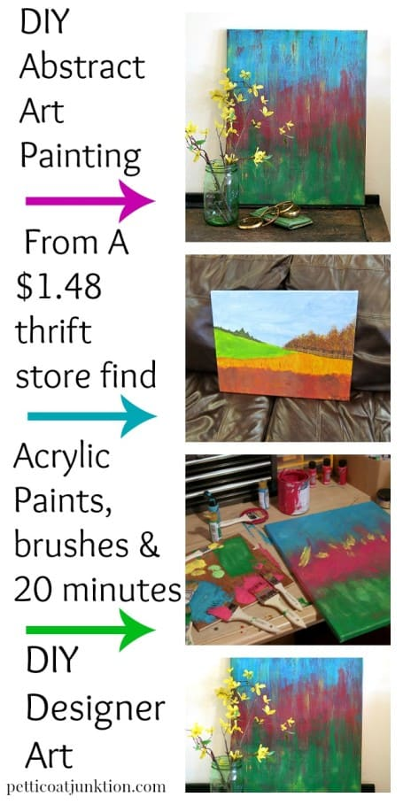 DIY ABSTRACT ART COLLAGE PETTICOAT JUNKTION