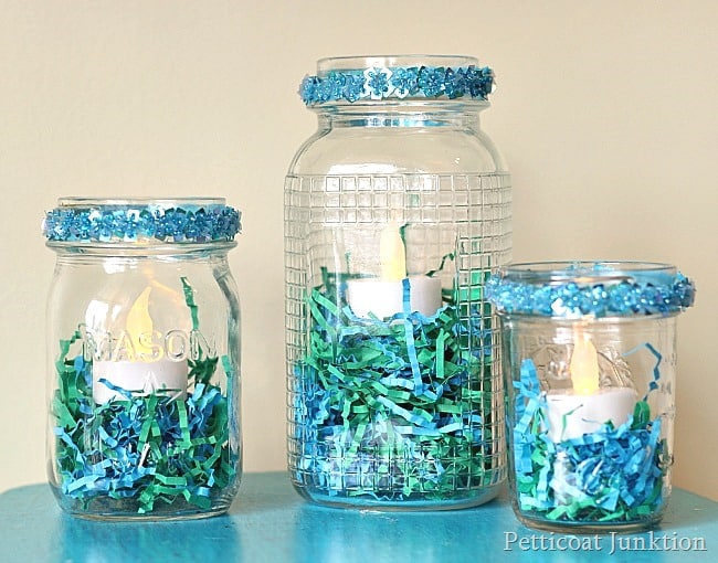 Easter Craft Idea: Mason Jar Candle Holders