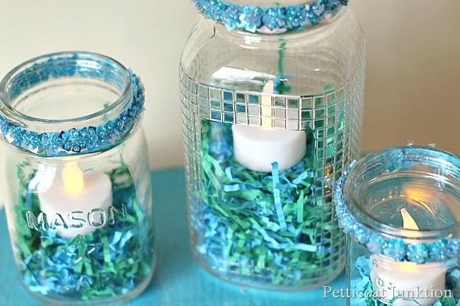 Spring Mason Jar Candleholder Petticoat Junktion diy project