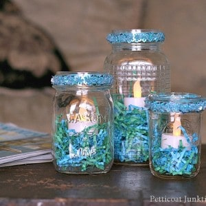 Mason Jar Candleholders | Spring Blog Hop