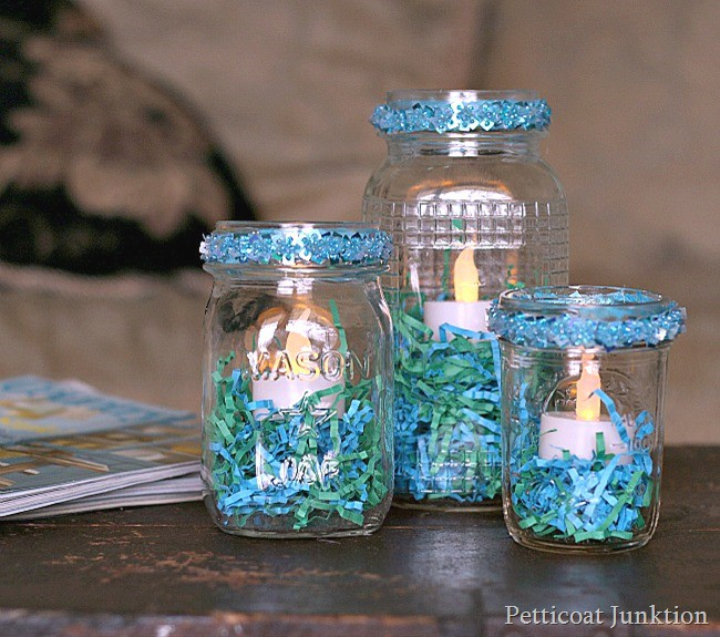 Mason jar crafts for Crafts to make with glass jars