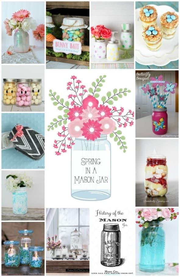 Spring in a Mason Jar Collage