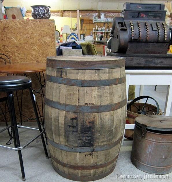 Whiskey Barrel Flea Market Shopping with Petticoat Junktion