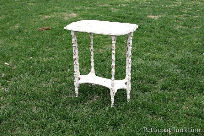 antiqued white paint Petticoat Junktion