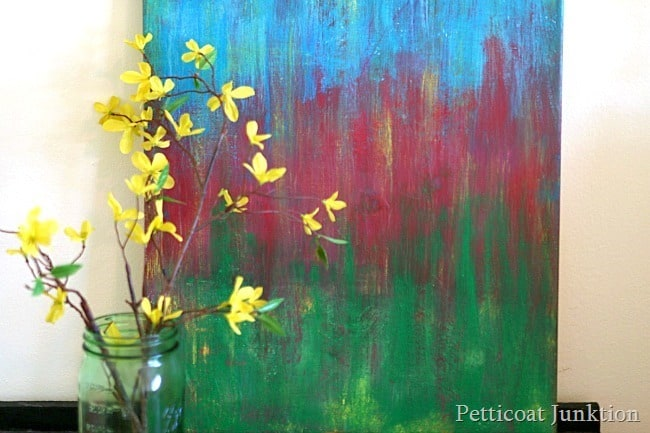 designer diy art painting Thrift Store Decor Makeover Challenge Petticoat Junktion