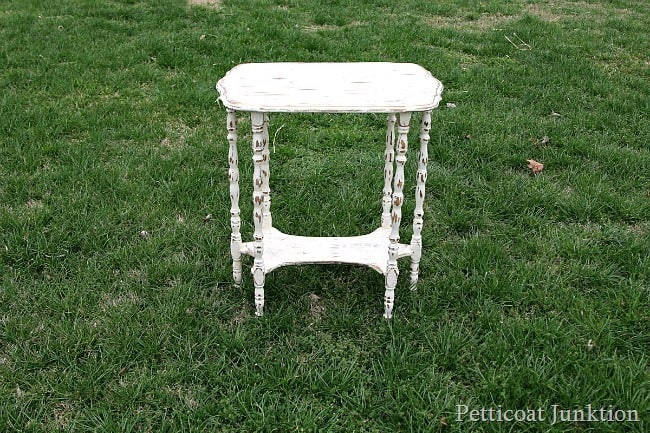 distressed furniture antiqued with dark wax Petticoat Junktion