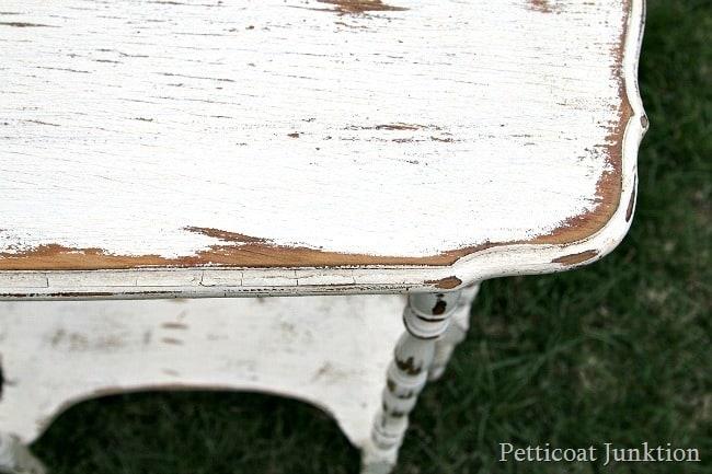 distressed furntiure details waxed dark Petticoat Junktion