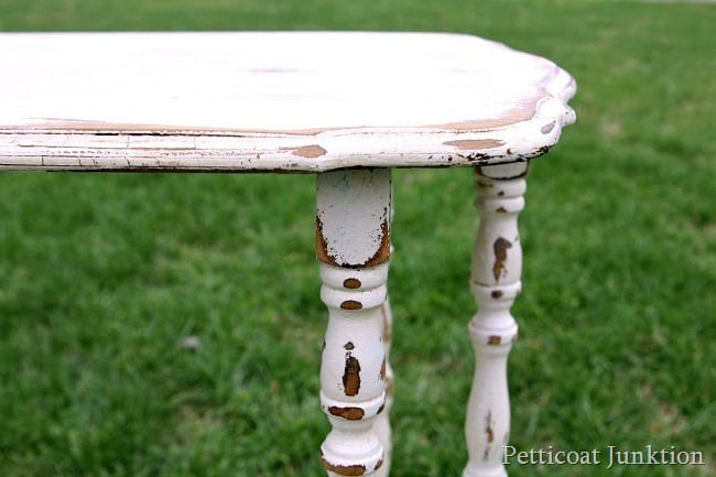 distressed shabby chic white furniture Petticoat Junktion