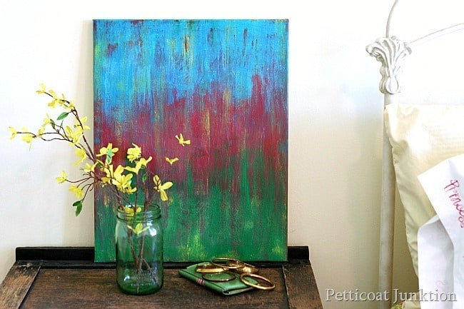 diy abstract art painting Petticoat Junktion project