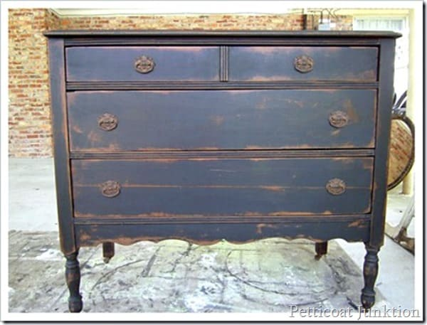 drastic dresser makeover Petticoat Junktion paint project