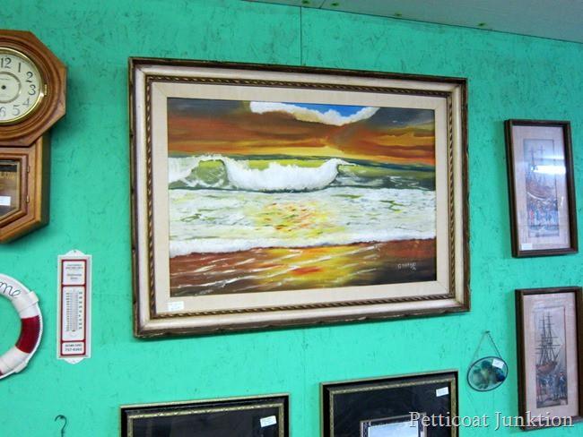 framed art  Flea Market Shopping with Petticoat Junktion