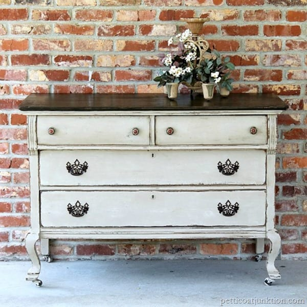 furniture project with two-tone paint finish petticoat junktion painted furniture dg