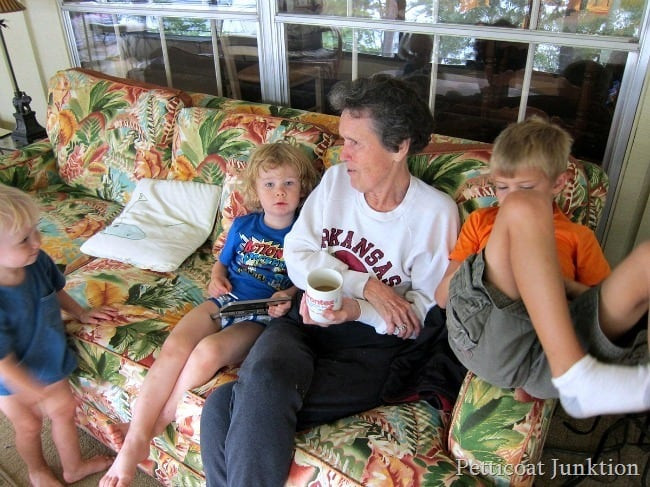 mom and great grandkids, family Alzheimer's story