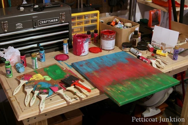 paint brushes and colors Petticoat Junktion