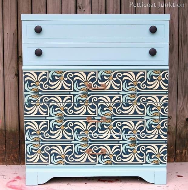 Art Nouveau Style Furniture Makeover Petticoat Junktion project