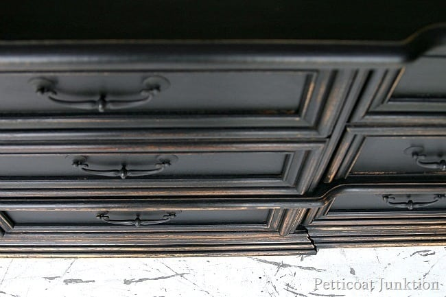 Distressed Black Dresser Petticoat Junktion Pottery Barn Knock Off