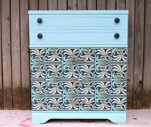 http://petticoatjunktion.com/painted-furniture/modern-furniture-makeover-with-an-art-nouveau-flair/