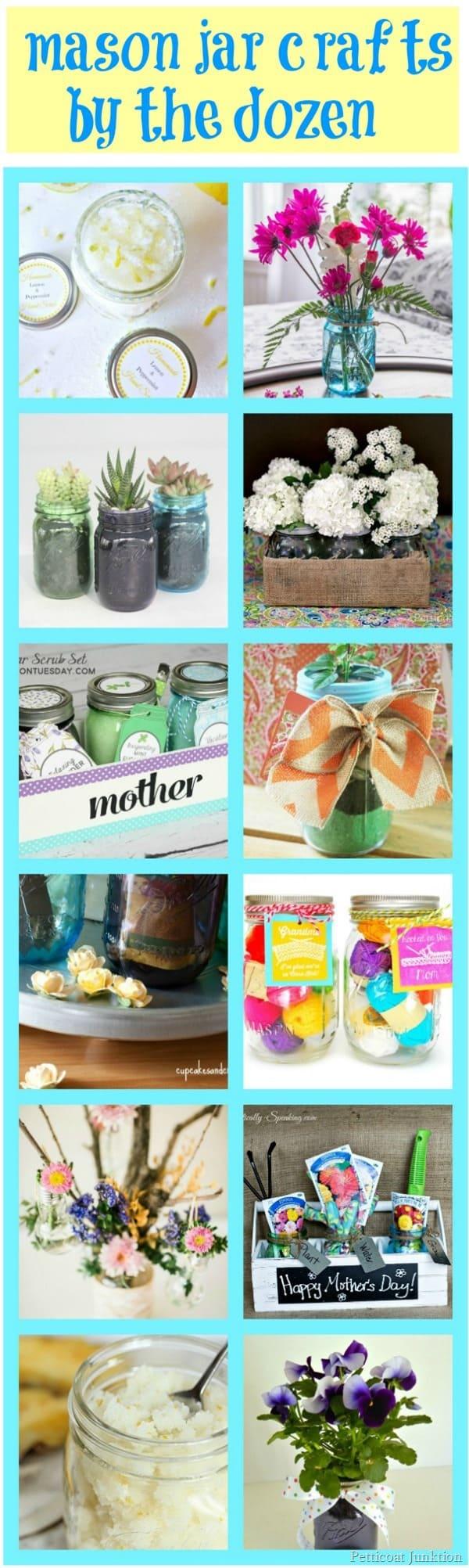 Mason Jar Crafts by the Dozen