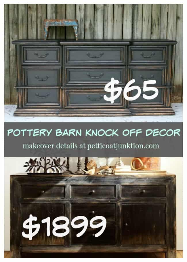 Pottery Barn Knock Off Themed Furniture Makeovers