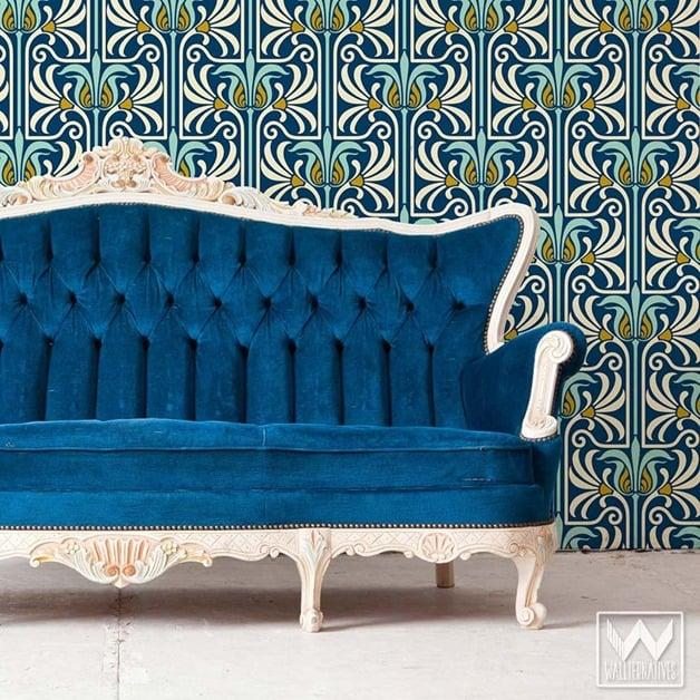 art-nouveau-feather-flower-damask-removable-wallpaper-wall-mural