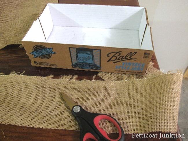 burlap strips for project Petticoat Junktion