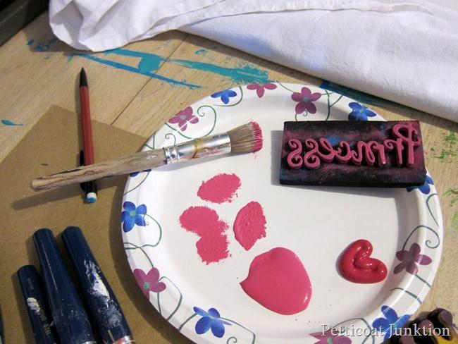 foam stamp project Petticoat Junktion