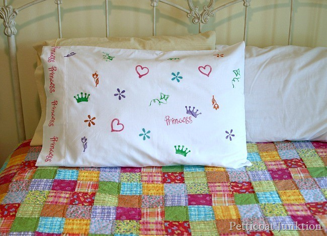 Stamped Kids Pillow Idea | Kids Craft